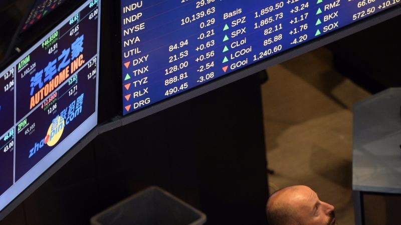 圖:AFP  美國股市於連創新高後 週四進行整理