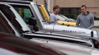 加州克萊斯勒汽車經銷處。圖片來源:AFP