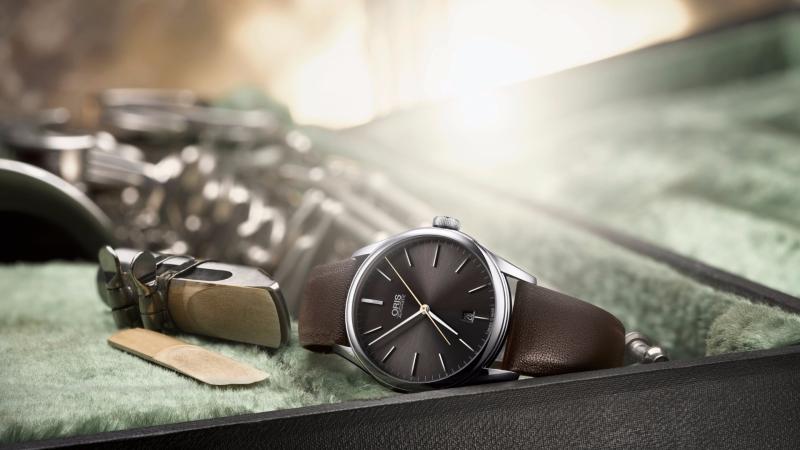 Oris推出薩克斯風手Dexter Gordonm同名的限量錶。(圖:Oris提供)