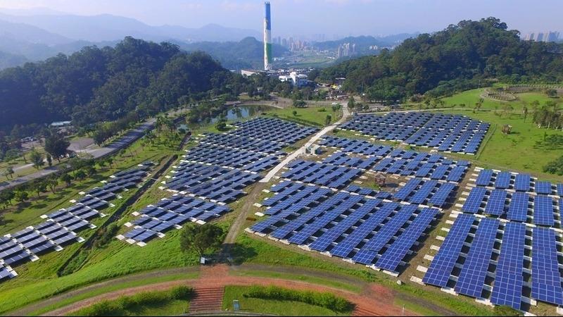 台北能源之丘福德坑環保復育園區太陽光電系統啟用。(圖:大同提供)