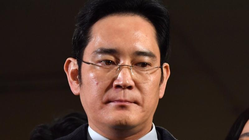 圖:AFP  三星實際負責人李在鎔週五被捕
