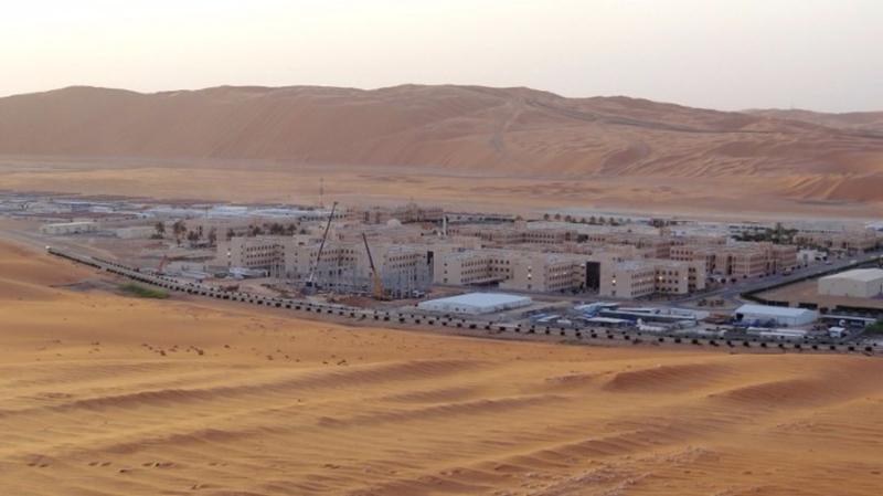 沙特阿美天然氣液體廠基地。  (圖:AFP)