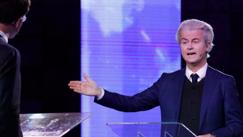 圖:AFP  荷蘭極右派候選人懷爾德斯(Geert Wilders)