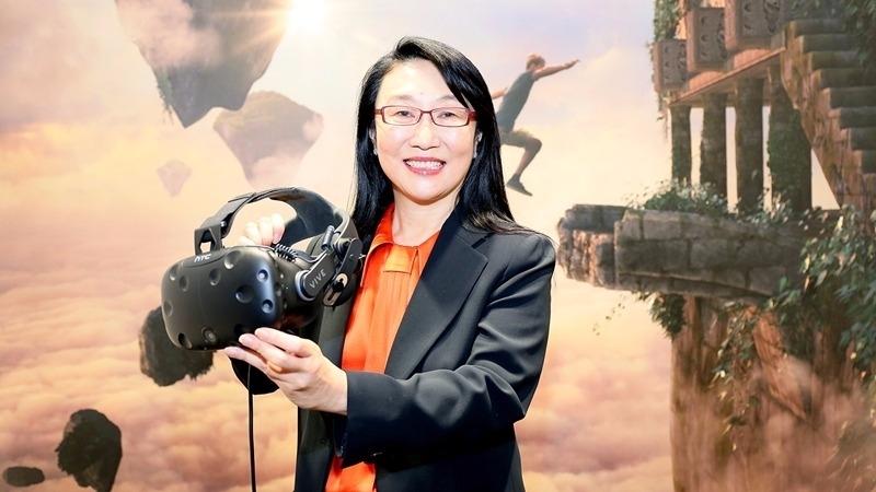 宏達電董事長王雪紅領軍衝刺VR商機。(資料照,圖:宏達電提供)