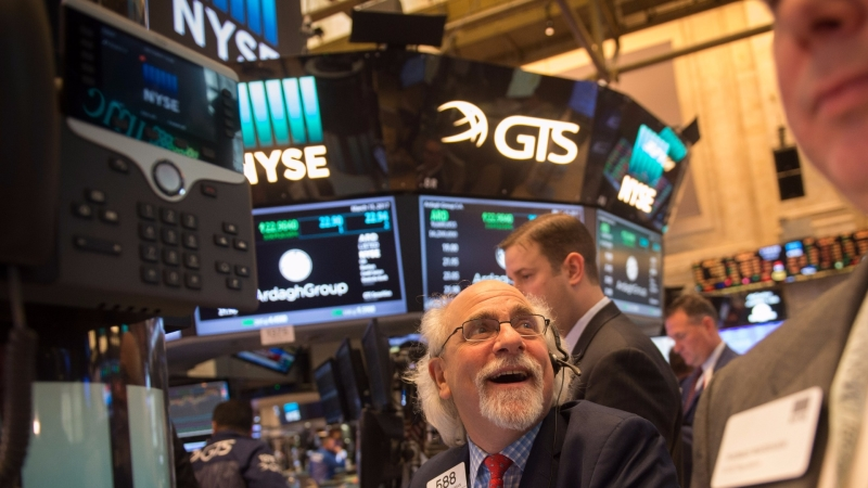 圖:AFP  美國股市中場整理 漲跌互見