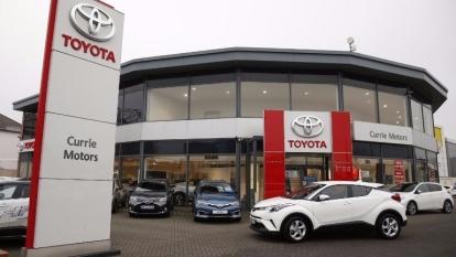 英國西倫敦 Twickenham 豐田汽車經銷商。(AFP)