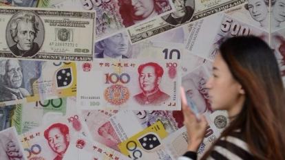 美匯指數昨日回軟,4連跌,回落至6周低位100.02點。  (圖:AFP)