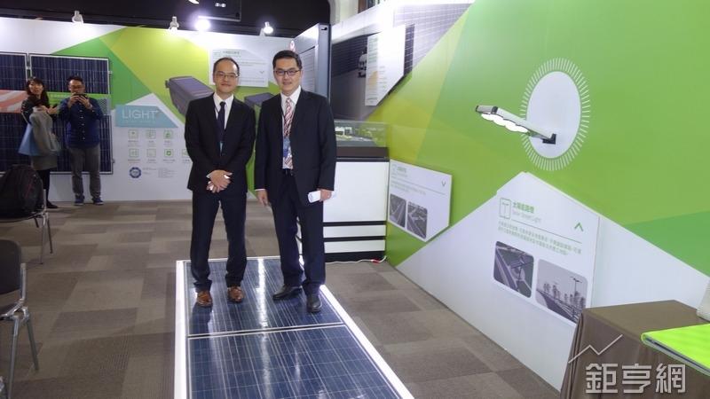绿能与奇想创造发表新系列轻量化产品及太阳步道。(钜亨网记者张钦发摄)