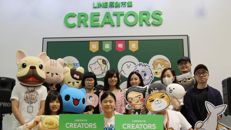 LINE原創市集攜手12位貼圖明星作家挺進2017台灣文博會。(圖:LINE提供)