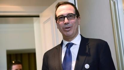 美國財政部長梅努欽。(AFP)