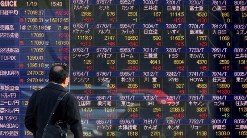亞股今日漲跌互見,海外大量需求拉抬日本出口。(圖片來源:AFP)