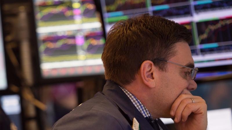 圖:AFP 美國股市週三暴跌