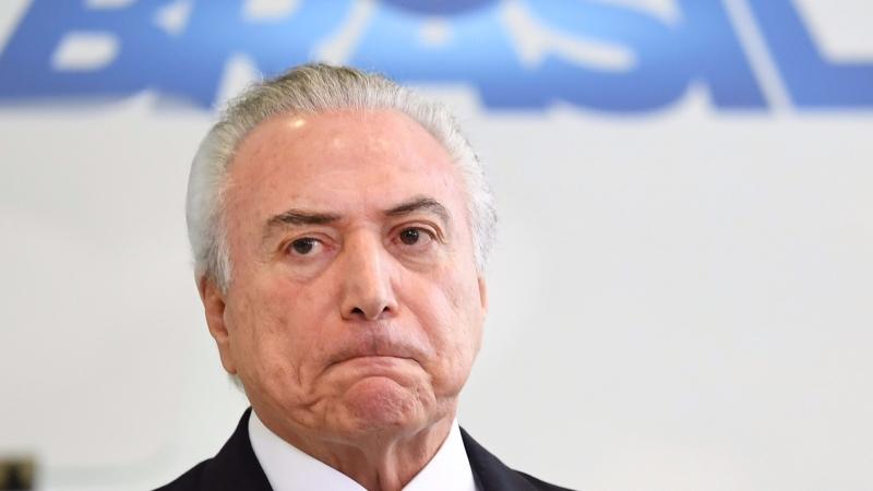 圖:AFP 巴西總統Michel Temer