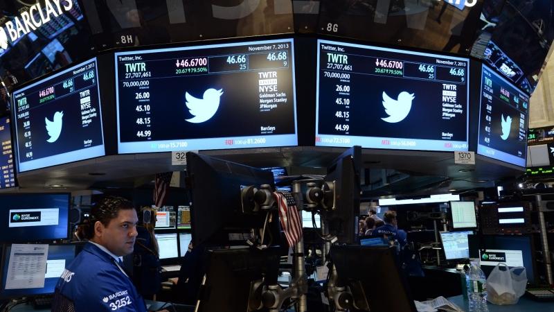 圖:AFP 美國股市周四溫和收高