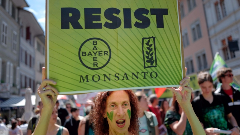 抗議技改食物的民眾不斷 / 圖片來源:afp