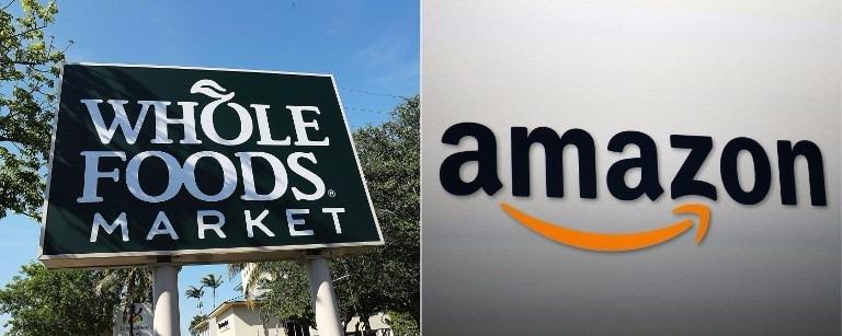 亞馬遜宣布以每股42美元收購全食超市。(圖:AFP)
