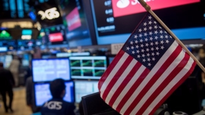 圖:AFP  美國股市周一大幅收高