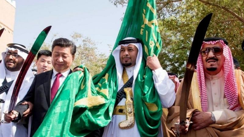 沙烏地阿拉伯國王沙勒曼。(右。圖片來源:AFP)