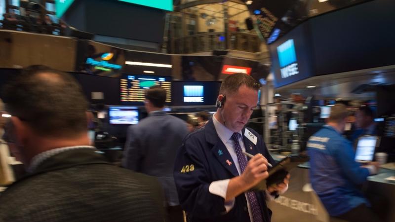 圖:AFP  美股盤中進行整理