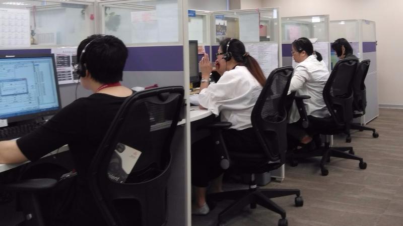 和泰產險電銷人員工作狀況。(圖:和泰產險提供)