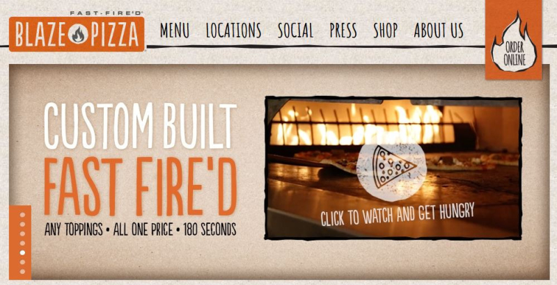 Blaze Pizza官網
