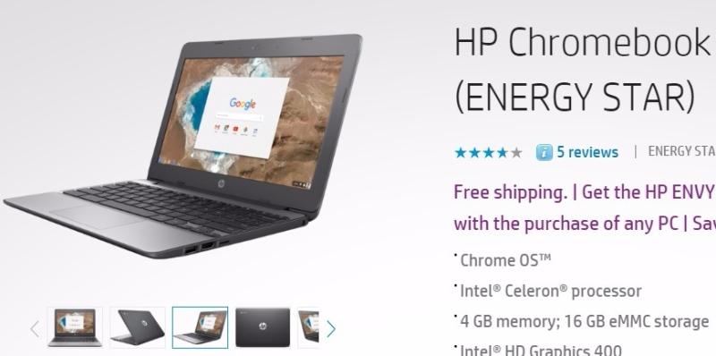 惠普 Chromebook (圖片來源:惠普官網)