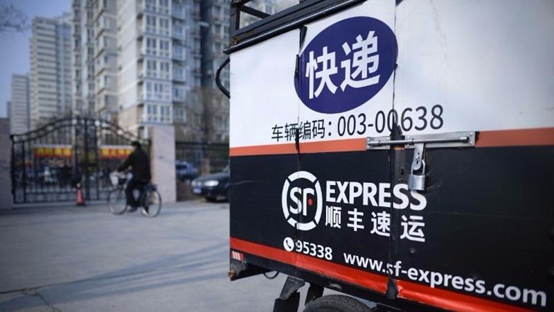 順豐速遞  (圖:AFP)