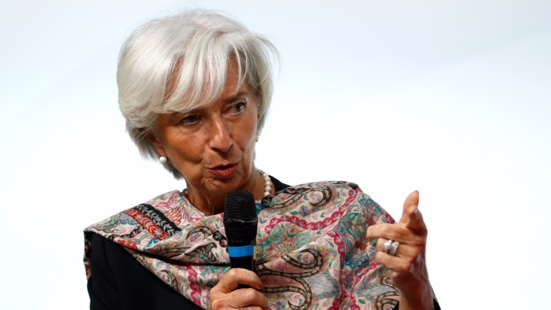 IMF 執行長 Christine Lagarde 。(AFP)