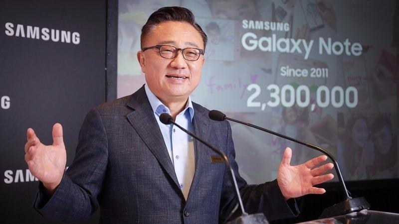 三星行動通訊事業部總裁高東真透露Note8上市快了。(圖:三星提供)