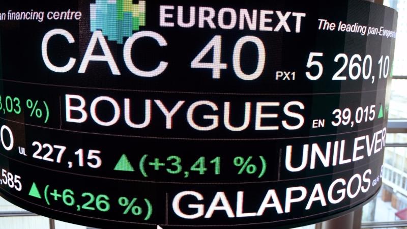 圖:AFP  歐洲股市收盤錯綜