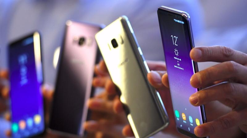 三星旗艦新機 Galaxy S8 。(AFP)