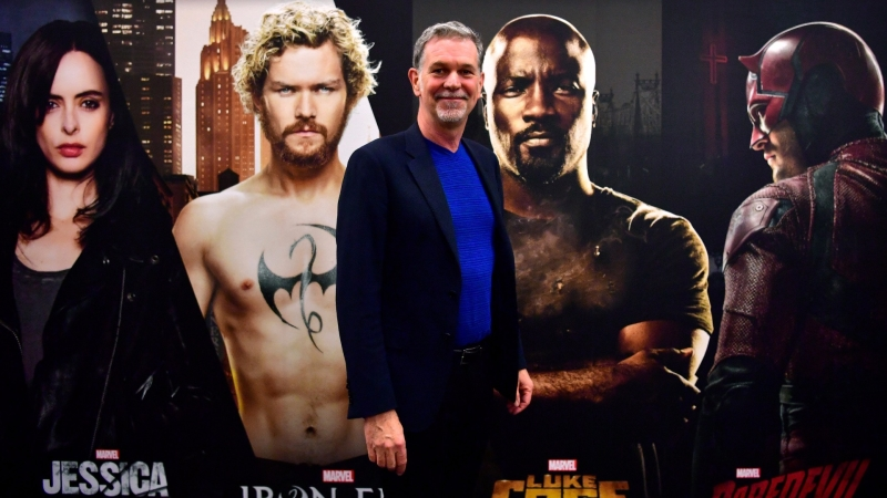 Netflix 創辦人兼總裁 Reed Hastings 。(AFP)