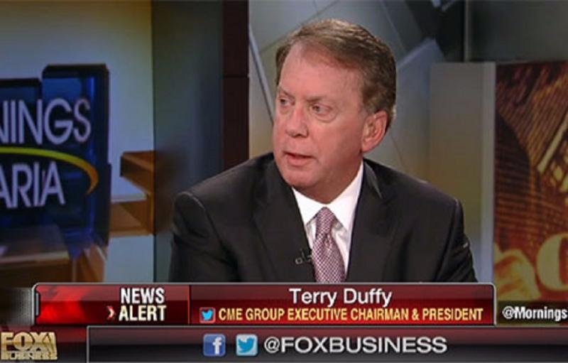 CME主席TerryDuffy接受電視台採訪。(圖:取自福克斯商業電視台畫面)