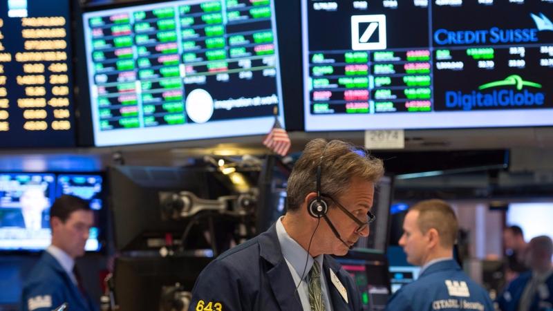 圖:AFP  美國股市週三再創收盤新高點