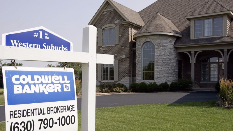 圖:AFP 美國6月成屋銷售下降1.8%