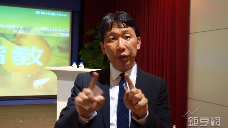 鮮活果汁董事長黃國晃。(鉅亨網記者張欽發攝)