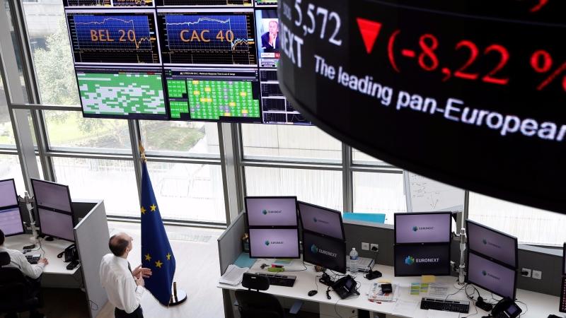 圖:AFP  歐股週四表現欠佳
