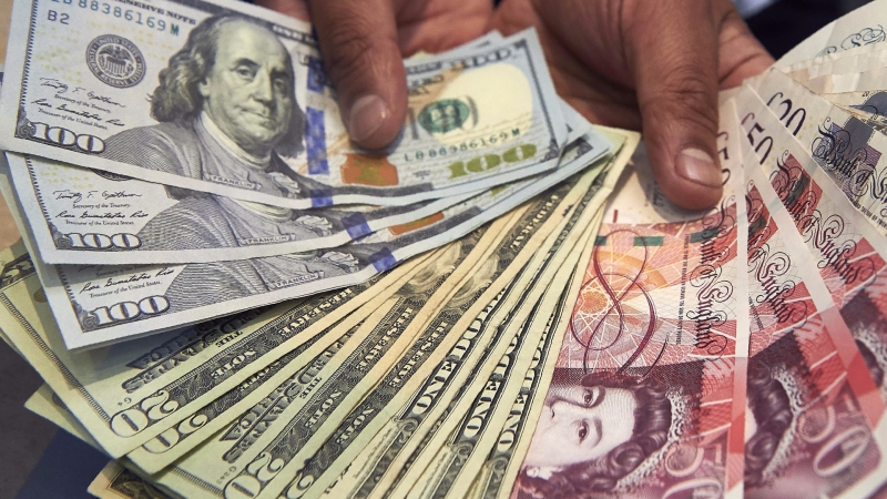 圖:AFP  美元週四上漲