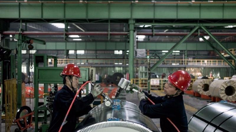 中國是世界上最大的鋼鐵生產國,一直在尋求解決產能過剩的辦法。(圖片來源:AFP)