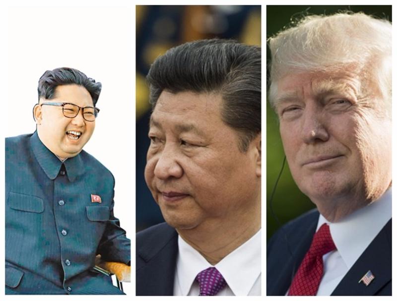 中國夾在北韓和美國中間,其立場和態度至關重要。  (圖:AFP)