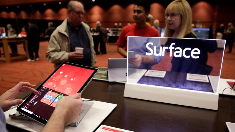 微軟 Surface / 圖片來源:afp