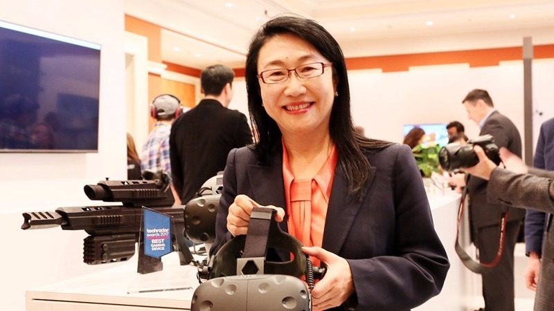 宏達電積極布局VR市場。圖為董事長王雪紅。(資料照,圖:宏達電提供)