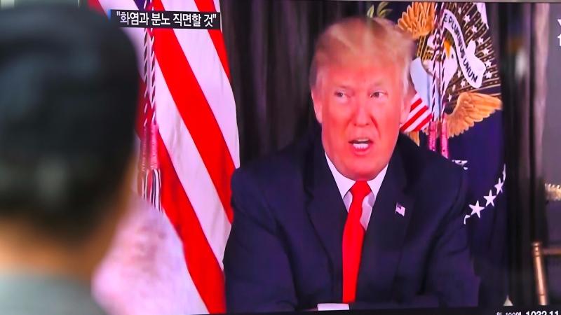 圖:AFP  川普總統嗆聲北韓