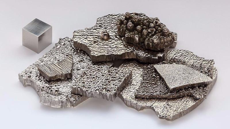 金屬鈷。(圖:取自維基百科)