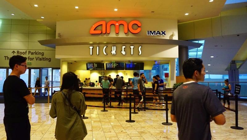 加州 AMC 電影院。(AFP)