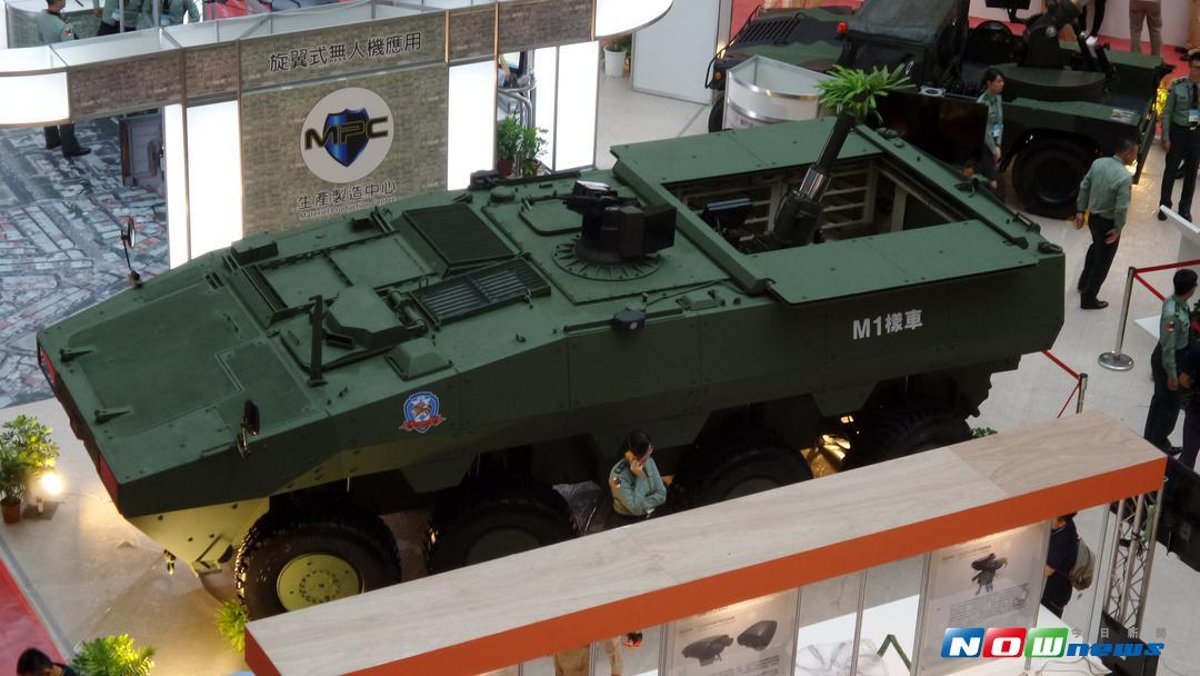 俗稱二代雲豹甲車正式名稱為「雲豹衍生型通用載具」。(圖/記者呂炯昌攝 , 2017.8.16)