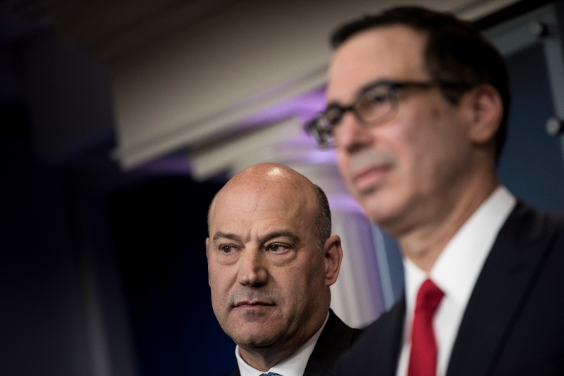 柯恩與美國財長梅努欽皆為華爾街,兩人也被視為川普於經濟政策推動上的得力助手。(AFP)