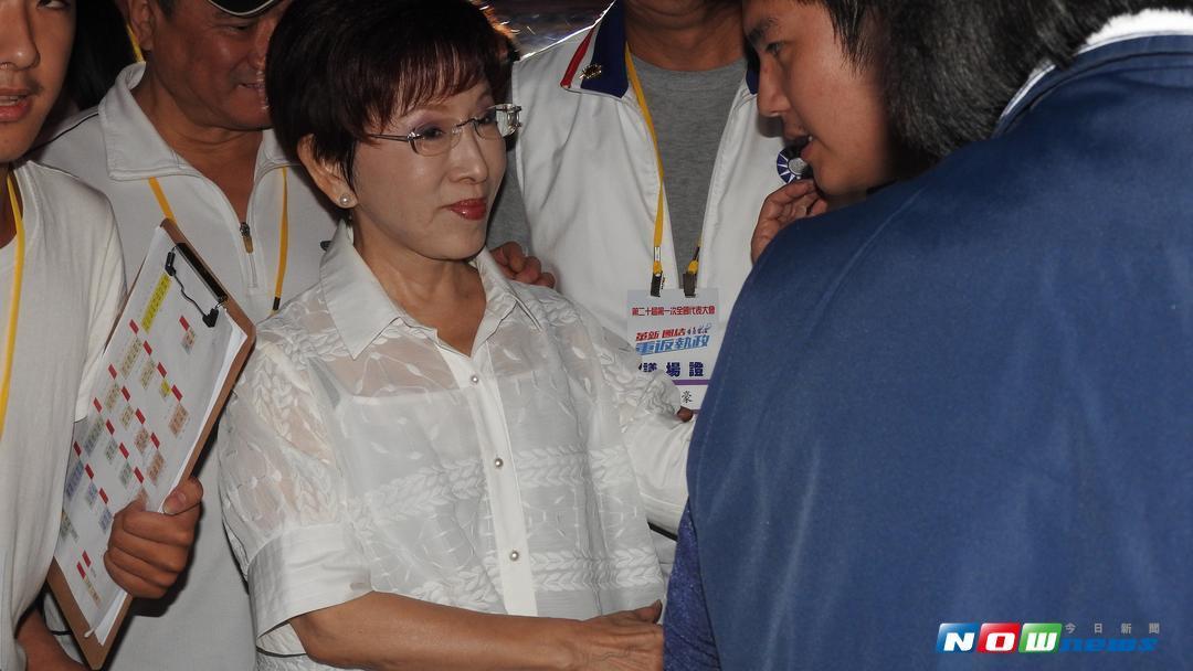 對於國民黨主席吳敦義的兩岸論述,洪秀柱認為,不談統就是促進獨,讓她感到憂心。(圖/記者戴祺修攝,2017.08.20)