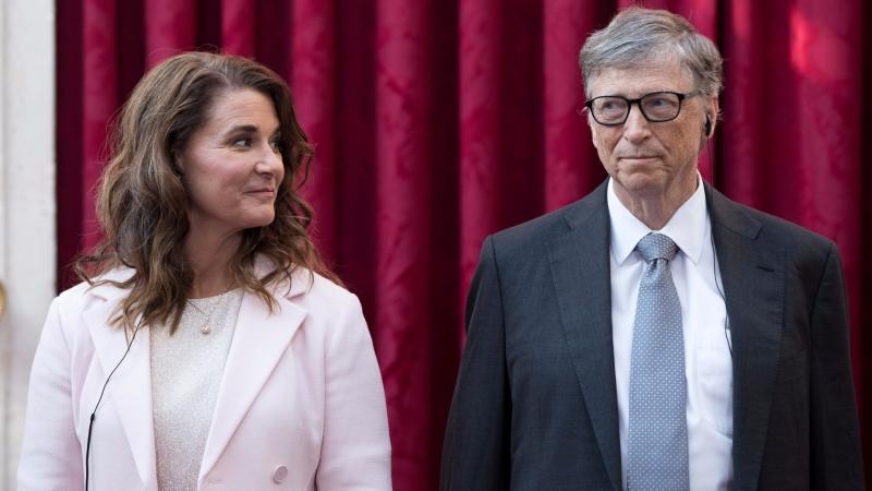 Bill Gates (右)與妻子 / 圖片來源:afp