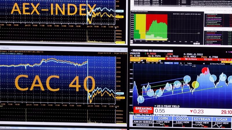 圖:AFP  歐股週五小幅收低